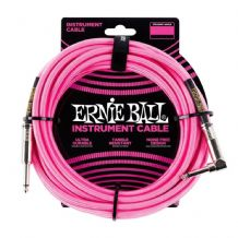 Ernie Ball Neon / Fluorescent Fabric Instrument Cable 10 ft - NEON PINK